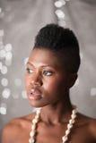 dziewczyna piękny czarny portret Obraz Stock