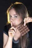dziewczyna piękny czekoladowy portret Zdjęcie Royalty Free