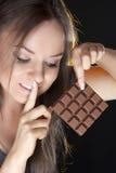 dziewczyna piękny czekoladowy portret Zdjęcie Stock