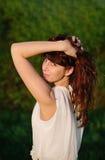 dziewczyna piękny smokingowy biel Obraz Stock