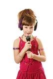 dziewczyna śpiew Obrazy Stock