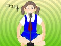 dziewczyna śpiew zdjęcia stock