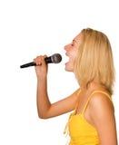 dziewczyna śpiewa Zdjęcia Royalty Free