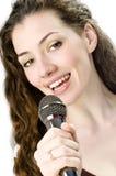 dziewczyna śpiewa Obrazy Stock