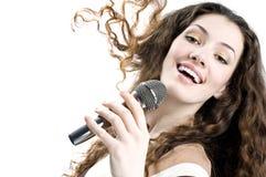 dziewczyna śpiewa Zdjęcia Stock