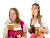 Dziewczyna pije zbyt dużo piwa Obrazy Royalty Free