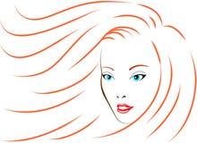 dziewczyna piękny włosy tęsk Fotografia Royalty Free