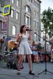Dziewczyna piosenkarz w Moskwa Obraz Royalty Free