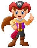 Dziewczyna pirata aprobaty Obrazy Stock