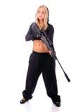 dziewczyna pistolet Zdjęcie Royalty Free
