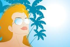 dziewczyna plażowa ilustracja wektor