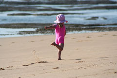 dziewczyna plażowa trochę Zdjęcie Royalty Free