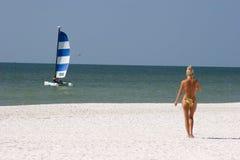 dziewczyna plażowa Zdjęcia Royalty Free