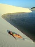 dziewczyna plażowa Obrazy Royalty Free