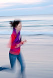 dziewczyna plażowy bieg Obraz Royalty Free