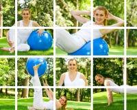 dziewczyna plenerowa fizyczny fitness Zdjęcie Stock