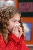 dziewczyna podmuchowy nos Zdjęcia Royalty Free