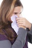 dziewczyna podmuchowy zimny nos Fotografia Royalty Free