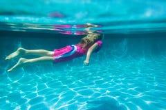 dziewczyna podwodna Fotografia Stock
