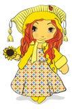 dziewczyna pogodna Zdjęcia Royalty Free