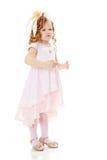Dziewczyna pokazuje lalę Obraz Stock