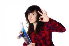 dziewczyna pokazywać tennage Obraz Stock