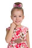 dziewczyna portret roześmiany mały zdjęcie royalty free