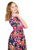 dziewczyna portret szczęśliwe młode fotografia stock