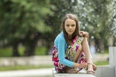 dziewczyna portret trochę Chodzić zdjęcia royalty free