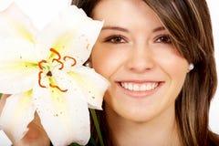 dziewczyna portret zdrowo się uśmiecha Obrazy Royalty Free