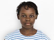 Dziewczyna portreta Rozochocony Pracowniany pojęcie obrazy royalty free