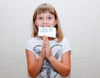 Dziewczyna potrzebuje pomoc Zdjęcia Stock
