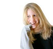 dziewczyna pozytywnie Zdjęcia Stock