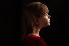 dziewczyna profil Fotografia Royalty Free
