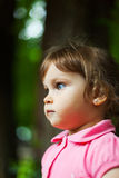 Dziewczyna profilowy portret Obraz Royalty Free