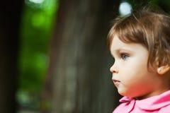 Dziewczyna profilowy portret Obrazy Stock
