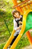 Dziewczyna przy boiskiem Obrazy Stock