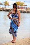 Dziewczyna przy plażą Zdjęcie Royalty Free
