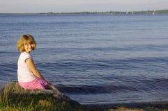 Dziewczyna przy plażą Obraz Stock