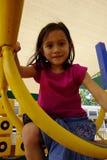 Dziewczyna przy wierzchołkiem. Fotografia Stock