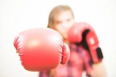 Dziewczyna przygotowywająca walczyć Fotografia Stock