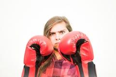 Dziewczyna przygotowywająca walczyć Fotografia Royalty Free