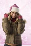 dziewczyna przygotowywająca zima Zdjęcia Royalty Free
