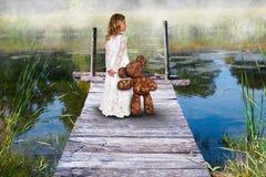 Dziewczyna, przyjaciele, miłość, wyobraźnia, natura obraz royalty free