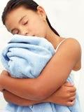 dziewczyna ręcznik obrazy royalty free