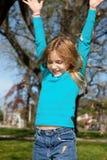 dziewczyna radosna Obrazy Royalty Free