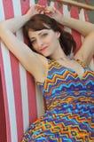 Dziewczyna relaksuje plenerowego Zdjęcie Stock