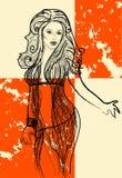 dziewczyna retro Royalty Ilustracja
