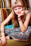 dziewczyna retro zdjęcia royalty free