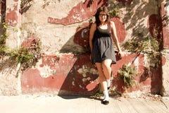 dziewczyna retro Zdjęcia Stock